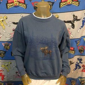 Vintage Moosehead Lake Maine Moose Sweatshirt M